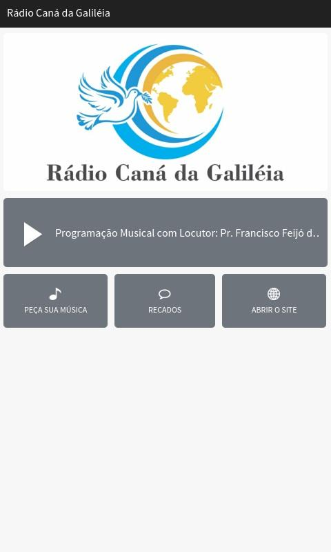 Rádio Caná da Galiléia- screenshot
