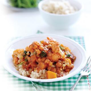 Pumpkin, Cauliflower And Spinach Curry With Quinoa.
