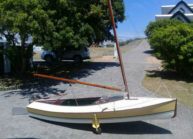 The restored 1946 Sprog dinghy