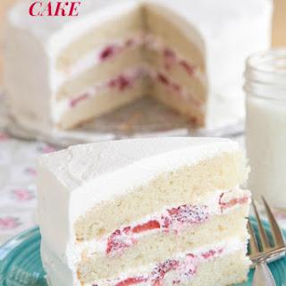 Gluten Free Strawberries and Cream Cake.