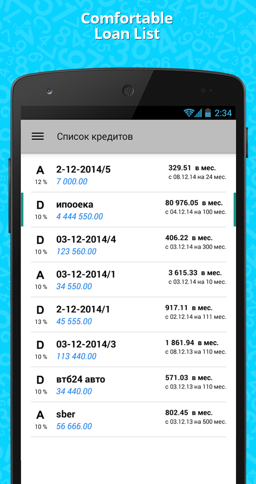 Loan calculator PRO Screenshot 1