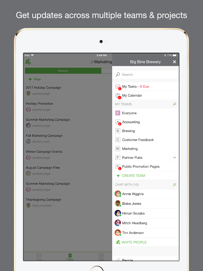 Samepage: Team Collaboration & Project Management- screenshot