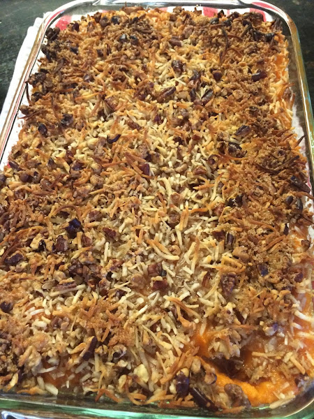Sweet Potatoes With Coconut Topping Recipe