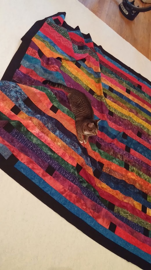 Batik Jelly Roll Race Quilt Sparklycorner