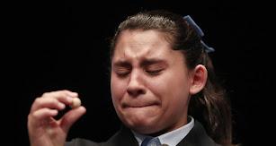 Las lágrimas de Nerea Pareja al leer el quinto premio para el 75.206.