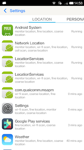 Permission Manager - App ops screenshots 1