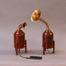Photo: steampunk speakers