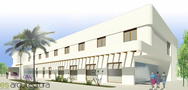 Una de las fachadas de la futura residencia.