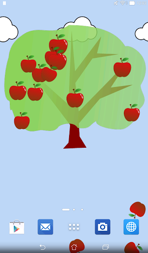 Falling Apples Live Wall Paper