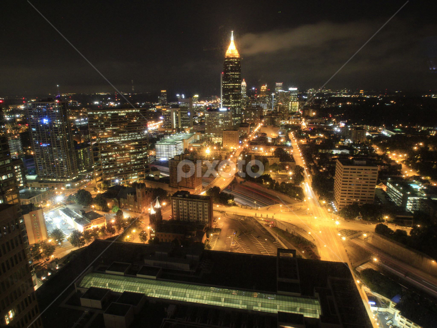 uptown Atlanta by Kevin Senter - City,  Street & Park  Skylines