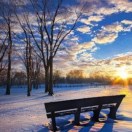 The Light That Beckons by Phil Koch - Landscapes Prairies, Meadows & Fields ( winter, arts, fine art, shadows, rural,  )