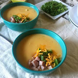 Cheesy Potato Ham Soup.