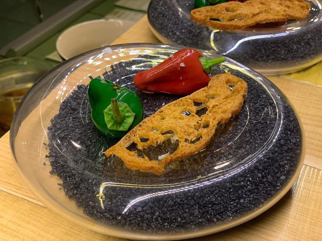 "Chocolate ""pepper"" dessert at Disfrutar"