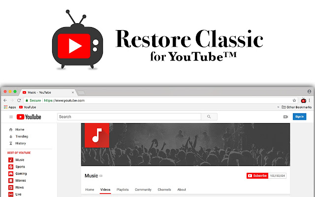 Restore Classic For Youtube