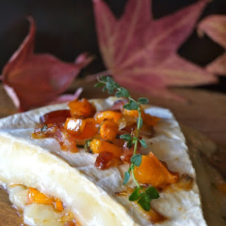 Cinnamon Persimmon Bacon Baked Brie