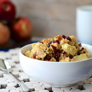 Apple Cranberry Millet Breakfast Porridge