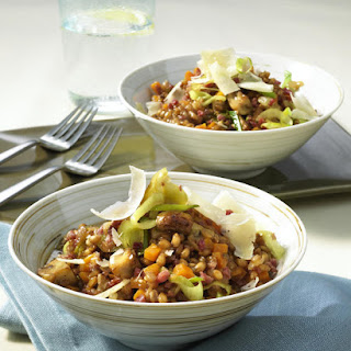 Bacon and Mushroom Wheatberry Stew