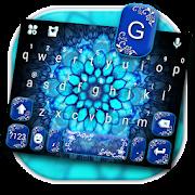 App Neon Blue Mandala Keyboard Theme APK for Kindle