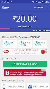 Earn + Unlimited earnings Paytm Balance - náhled