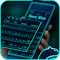 Neon Blue Cheetah Keyboard Theme icon