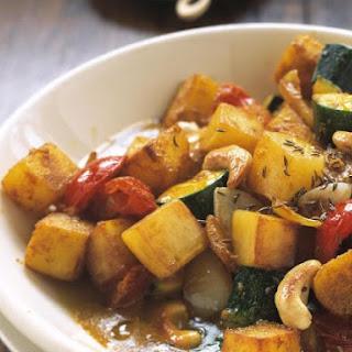 Potato and Cashew Nut Curry.