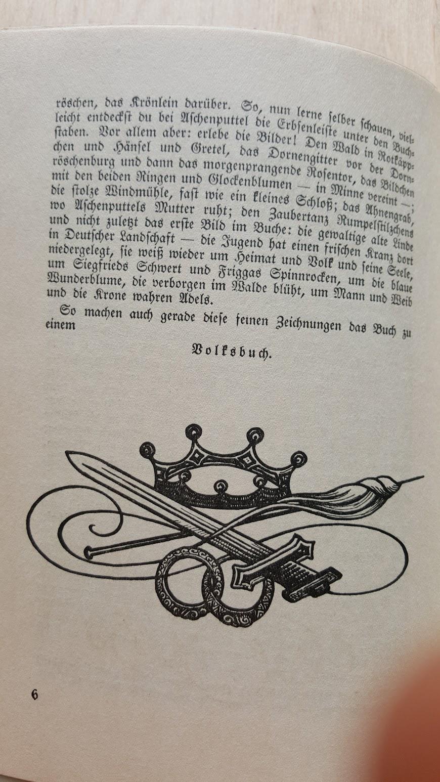 Deutsche Märchen und ihr Deutung, Ein Volksbuch aus der Nazizeit, 1934 - Einleitung