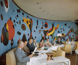 Photo: Terrace Plaza Hotel Gourmet Restaurant with mural by Joan Miró, ca. 1948