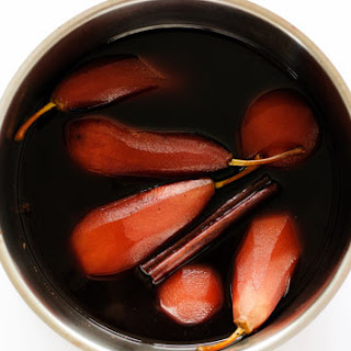 Red Wine Stewed Pears.