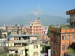 Photo: Kathmandu as seen from the roof of our hotel in Thamel