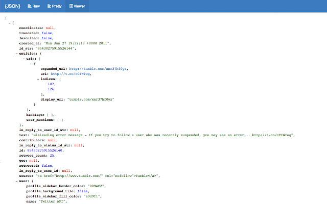 JSON Format