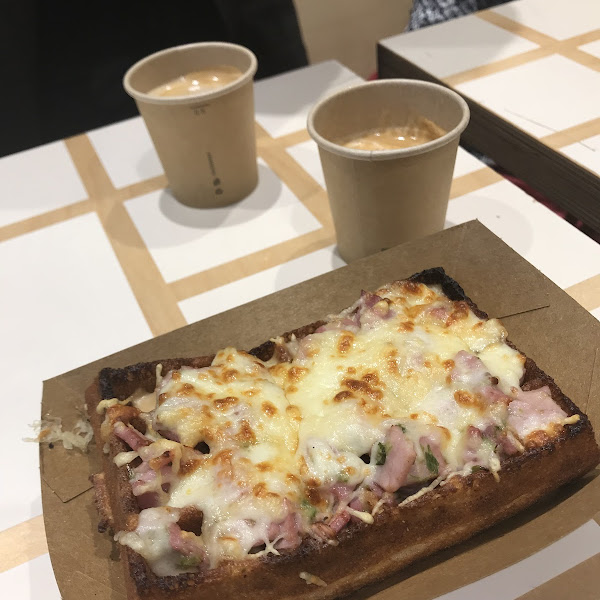 Croque Monsieur waffle