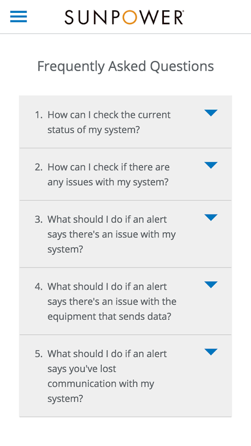 SunPower Customer Portal- screenshot