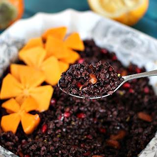 Wild Rice Pomegranate Orange Salad - Vegan, Gluten Free