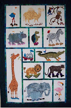 Photo: Jungle Walk for a Cause quilt by Geraldine Rorabeck of Picton Fabric World ,Picton, Ontario