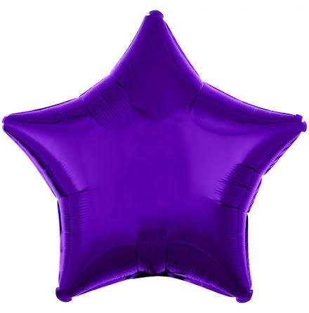 Folieballong, stjärna metallic lila 48 cm