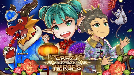Crazy Defense Heroes Tower Defense Strategy TD 1.9.4 MOD (Unlimited Energy + Gold Coins + Diamonds) 1