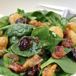 Gnocchi and Wilted Spinach Salad