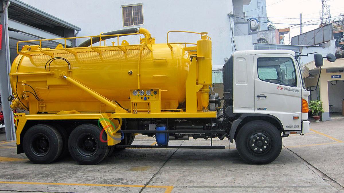 Xe có thể tích lớn dành cho những khu vực hầm chất thải rộng