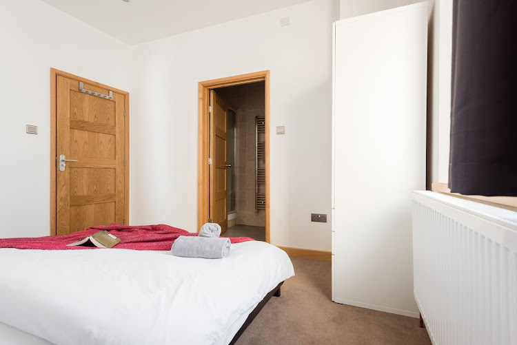 Double bed bedroom at The College Green Loft