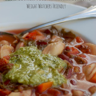 Slow Cooker Vegetarian Minestrone.