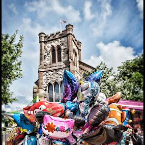 Fleetwood tram sunday by Peter Hearn - City,  Street & Park  Street Scenes ( fleetwood balloons church hdr )