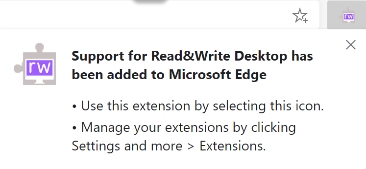 Extension has been added