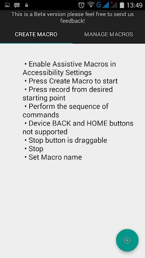 Assistive Macros