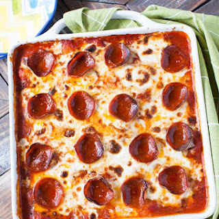 Pepperoni Pizza-Baked Gnocchi