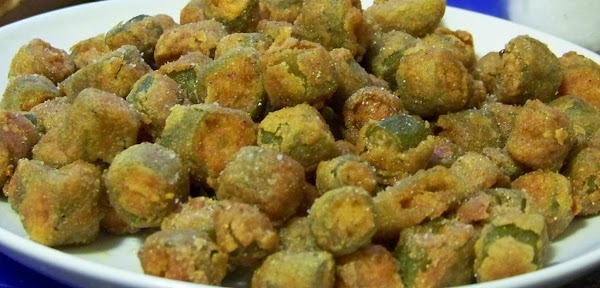 Okra can be battered and fried