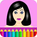 Coloring pages: Model dress up icon
