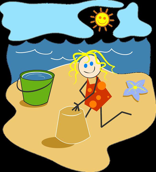 Beach, Bright, Cartoon, Cheery ...