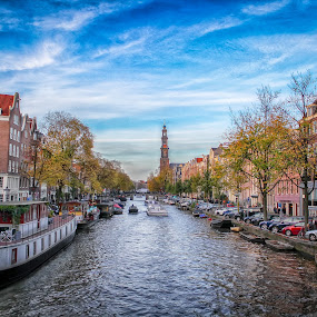 Amazing day in Amsterdam by Wira Suryawan - City,  Street & Park  Street Scenes
