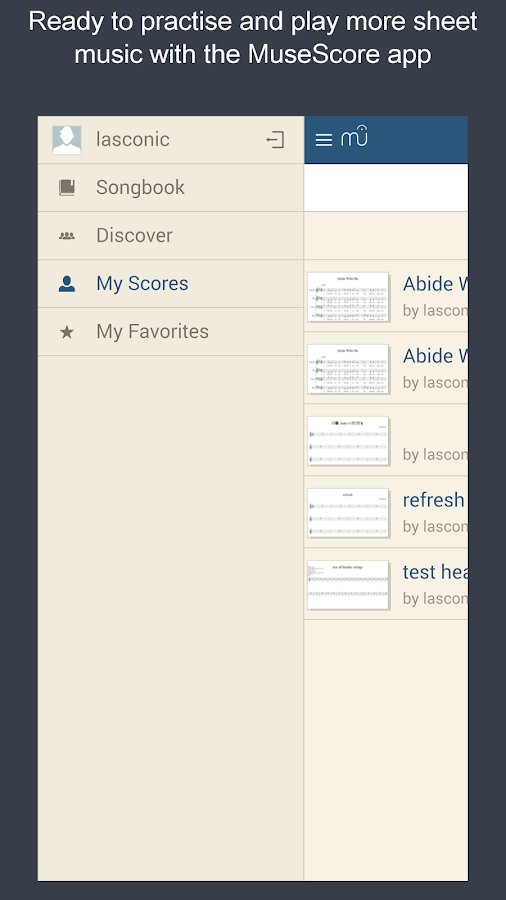 MuseScore Songbook- screenshot