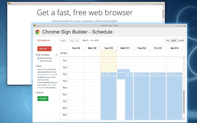 Chrome Sign Builder